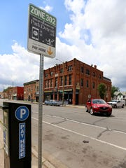 Parking Meters are seen in  southwest Detroit where