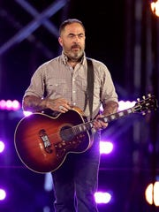 "Musician Aaron Lewis performs onstage during ""Spike's Rock the Troops."""