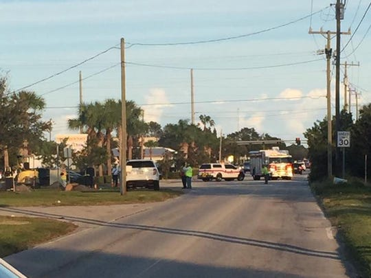 St. Lucie County Fire District crews are at the scene