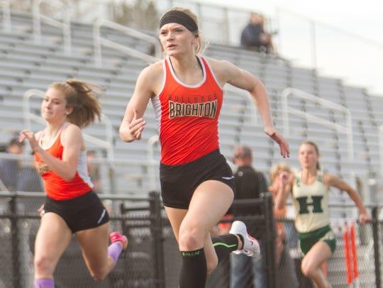 Shannon McGrath of Brighton wins the 100-meter dash