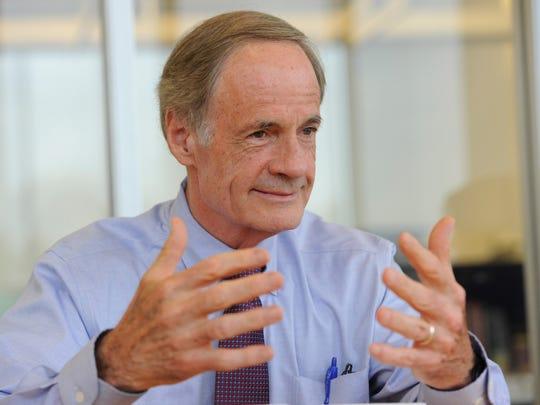 Delaware Sen. Tom Carper is the top Democrat on the