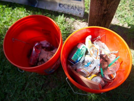 Several people volunteered their time to remove trash