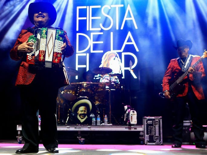 Ramon Ayala performs during the first day of the Fiesta de la Flor festival Friday, May 6, 2016, in Corpus Christi.
