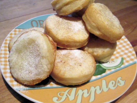 A stack of deep-fried mini apple pies will go quickly.