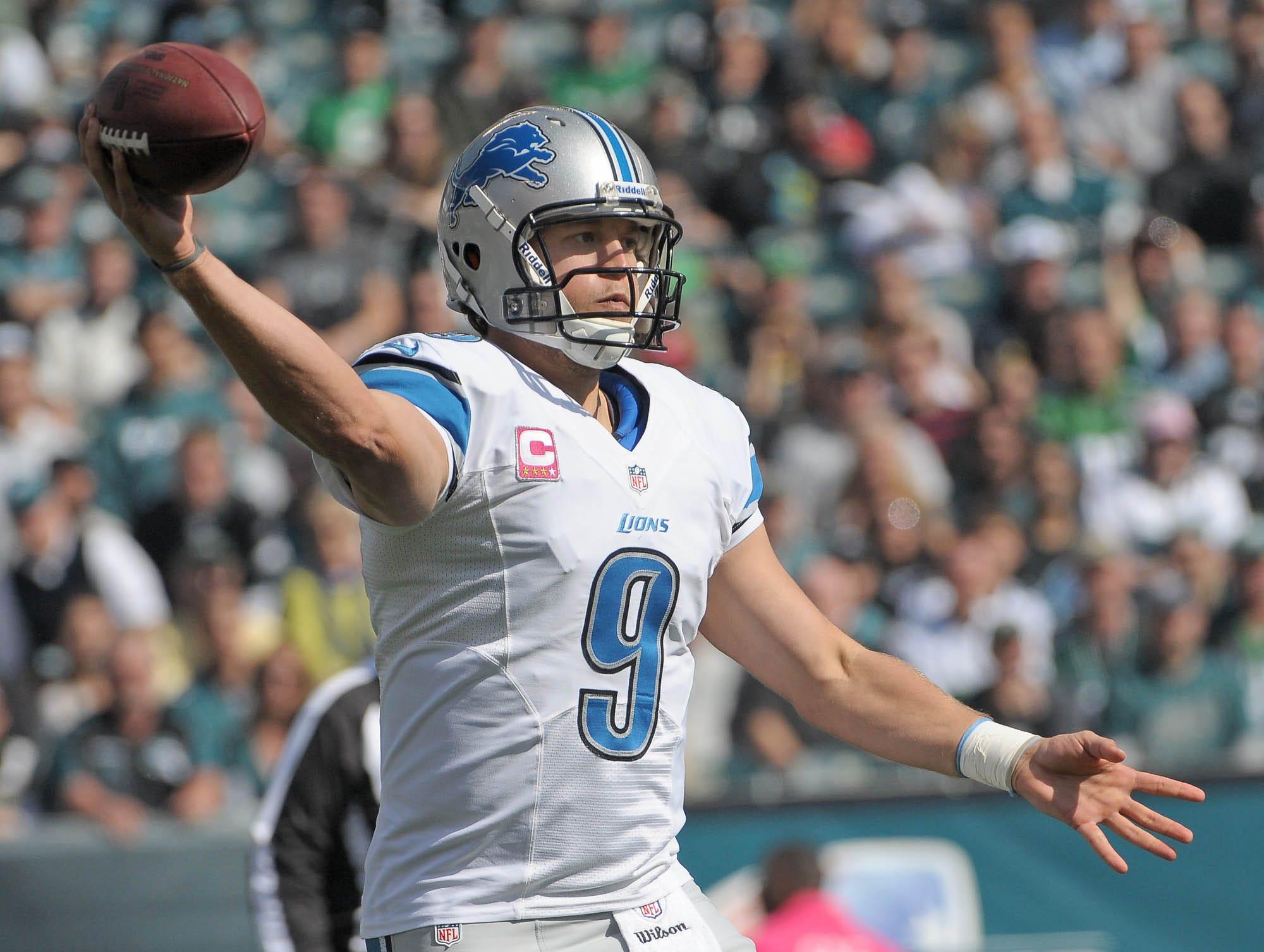 6. Matthew Stafford, Detroit Lions