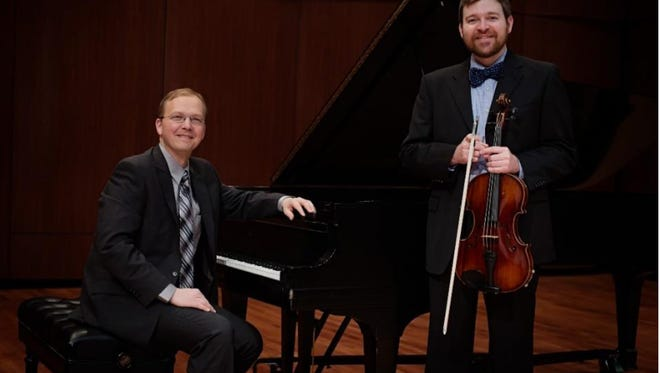 Composer-pianist Dominic Dousa and violist Stephen Nordstrom.