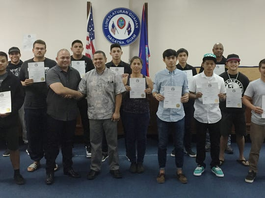 The Guam International Boxing Council awarded local fighters and gyms for their accomplishments in 2014 during a ceremony at the Guam Legislature on Thursday, Dec. 31.