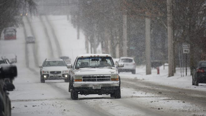 Difficult driving conditions are expected across the region beginning Monday morning.