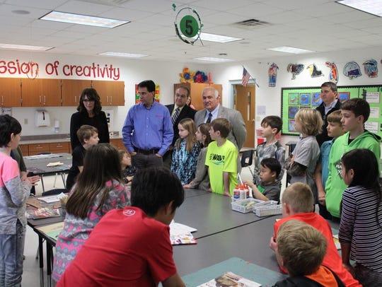 Gov. Scott Walker tours Mountain Bay Elementary School