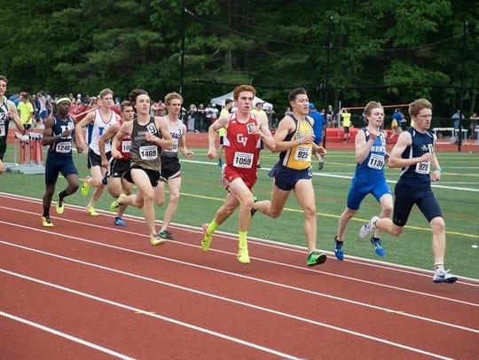 CVU's Tyler Marshall runs at the New England track