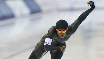 Erin Jackson made her first U.S. Olympic team in long-track speedskating/
