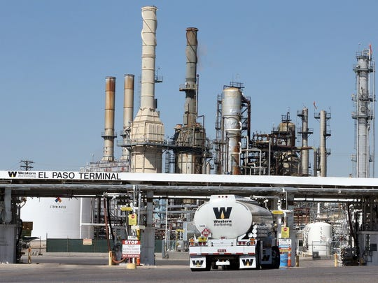 San Antonio-based Andeavor bought Western Refining, including its El Paso refinery, shown here, in June for $5.8 billion.