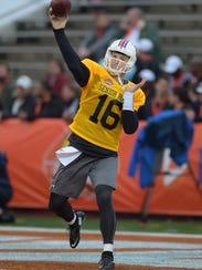 North squad quarterback Jeff Driskel of Louisiana Tech