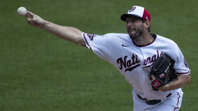 Max Scherzer thre 48 pitches on Wednesday, enough to impress the coaching staff with the Washington Nationals.