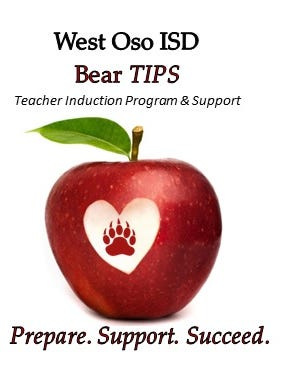 The West Oso Independent School District was among 12 school districts in Texas chosen by the Texas School Business magazine for its 10th annual Bragging Rights special issue because of a new teacher induction program. West Oso's new program — dubbed Bear TIPS (Teacher Induction Program & Support) — launched during the 2014-15 school year.