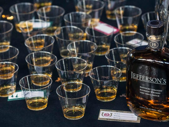 The presence of Kentucky's various Bourbon distillers has grown over the past few years at the Taste of Derby Festival. 4/25/17
