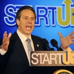 Gov. Andrew Cuomo speaks about Startup-NY in Buffalo in 2015.