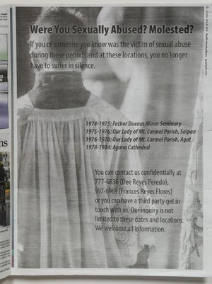 An advertisement ad, paid for by the Concerned Catholics of Guam, that was printed in the May 8, 2016 edition on the Pacific Daily News.