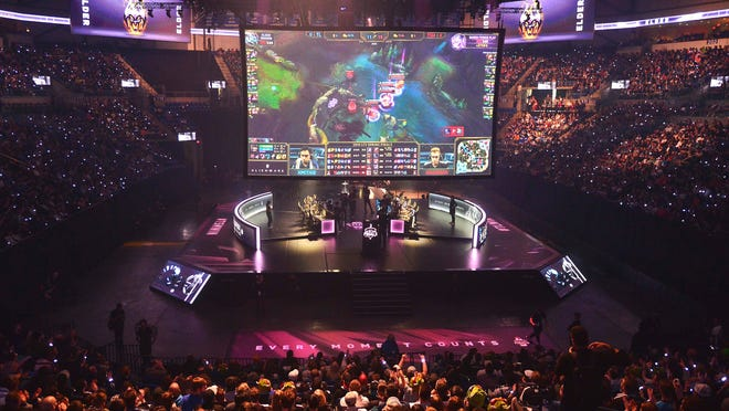 Apr 13, 2019; St. Louis , MO, USA; A general view as Team Liquid and TSM battle during the League of Legends Championship Series Spring Finals at Chaifetz Arena. (Photo: Jeff Curry/USA TODAY Sports)