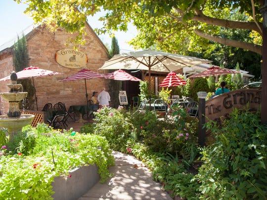 The Granary restaurant in Santa Clara offers outdoor dining.