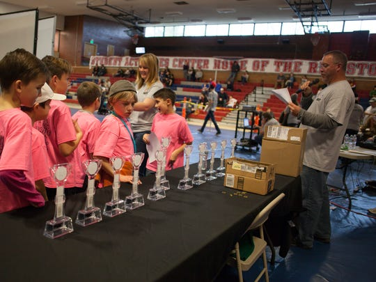 Students from area schools compete in the First Lego League Qualifying Tounrnament at Dixie State University Saturday, Jan. 9, 2016. With 47 teams involved, the event is the largest qualifier in Utah.