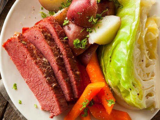 Homemade corned beef and cabbage is perfect for celebrating St. Patrick's day.