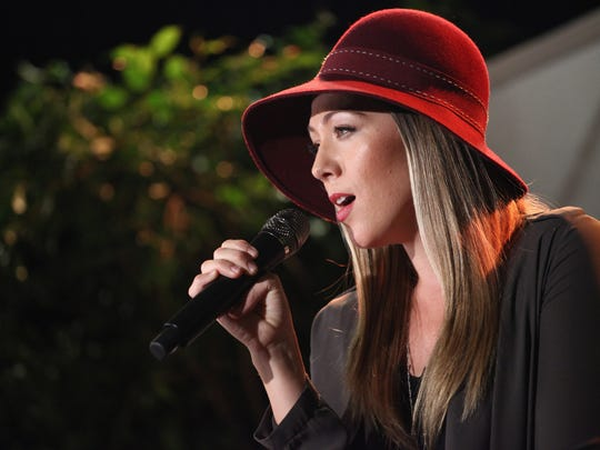 Colbie Caillat performs at the 2014 American Music Awards Radio Row in Los Angeles, California.