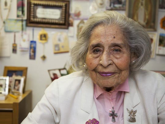 """Terri Cruz photographed in 2013. She is considered the """"mother of Chicanos por la Causa"""" and helped establish the Latino social-services agency in 1969."""