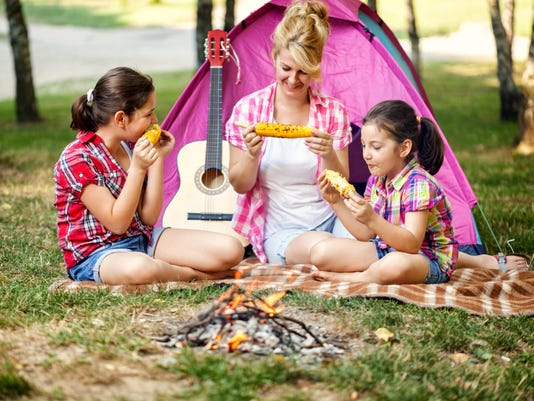 Young Family on a Camping