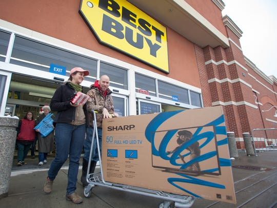 Big box stores dominate in the competition for attention of shoppers on Black Friday, according to Luke Wight, owner of Kiss the Cook on Church Street. He said he's grateful for Small Business Saturday.