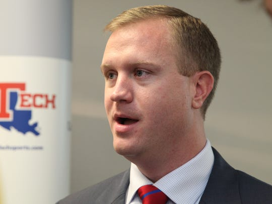 Louisiana Tech athletic director Tommy McClelland spoke