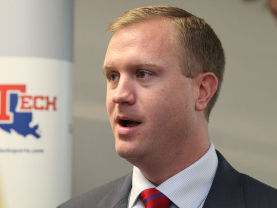 Louisiana Tech athletic director Tommy McClelland spoke