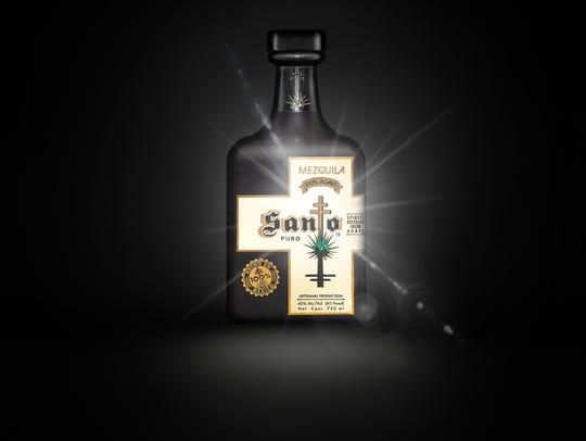Santo is a new distilled spirit, a mezquila -- a blend