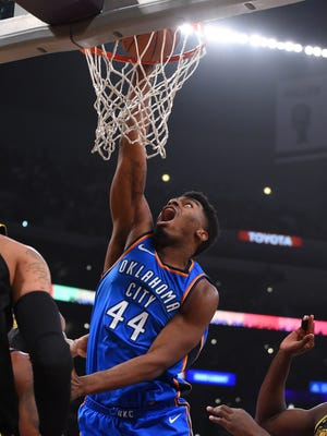 Dakari Johnson averaged fewer than two points and a rebound per game in 31 appearances for Oklahoma City last season.