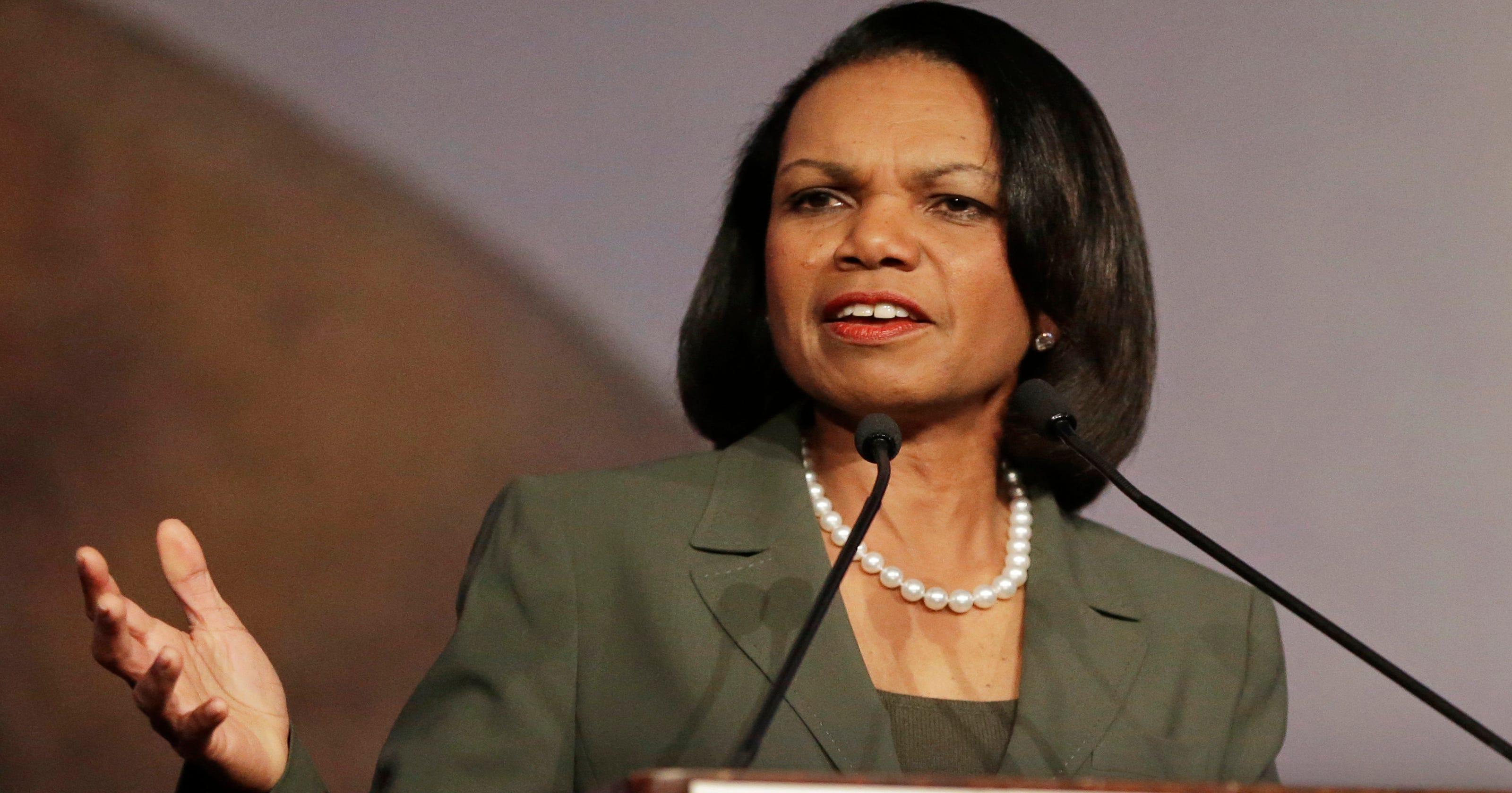 Former Secretary of State Condoleezza Rice endorses Blackburn's bid for the US Senate