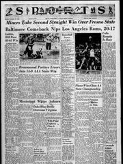 Sports front page for Dec. 18, 1965.