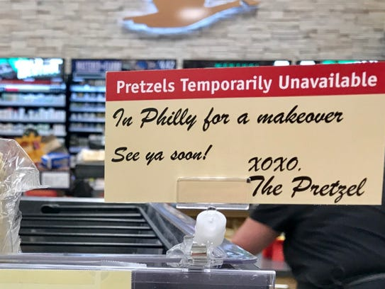 Signs didn't stop Wawa fans from asking when the pretzels