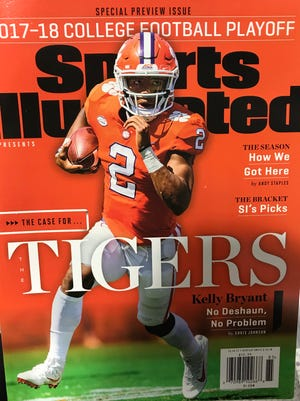 Clemson quarterback Kelly Bryant appears on the cover of Sports Illustrated's 2017-2018 College Football Playoff special preview issue