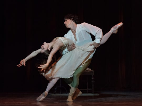 """Melissa Gelfin and Cervilio Miguel Amador brought searing passion and heartbreaking tragedy to the title roles in Cincinnati Ballet's October presentation of """"Romeo and Juliet,"""" choreographed by artistic director Victoria Morgan."""