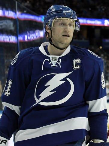 Tampa Bay Lightning captain Steven Stamkos has 26 goals