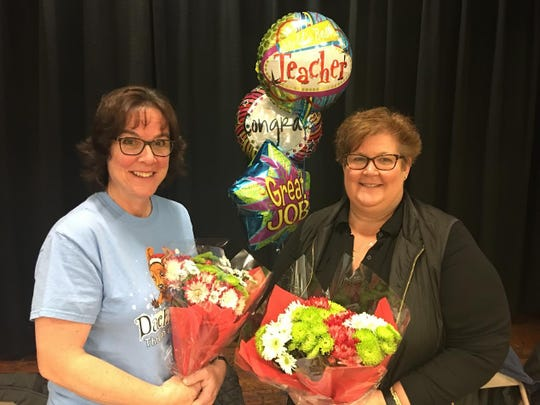 Governor's Educator of the Year nominees in Netcong are Ann Marie Evans and Linda Tuorinsky.