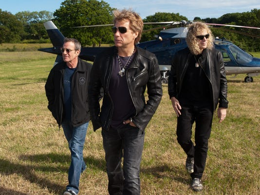Bon Jovi Arrive By Helicopter At The Isle Of Wight Festival - Day 4
