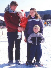 Tim and Diane Mueller with children Ethan and Erica in 1982, the year the Muellers purchased Okemo.