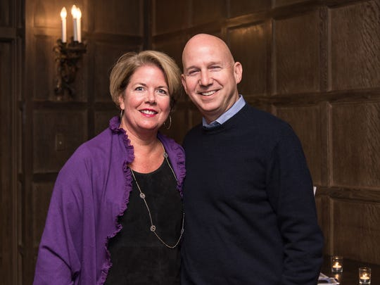 Outgoing Gov. Jack Markell with his wife, Carla. Both are popular at the end of Markell's tenure.