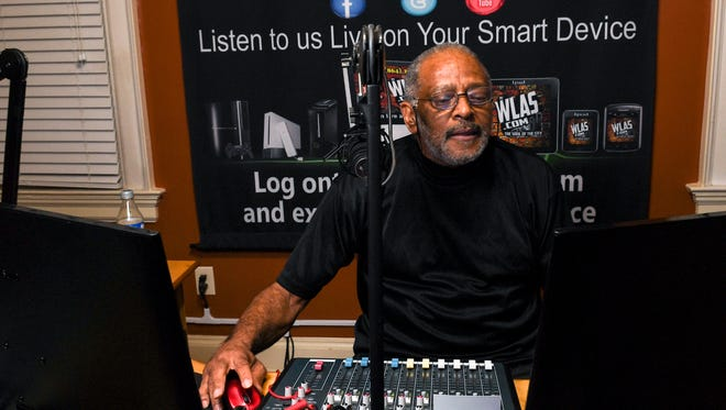 Stevie Jones, known as Sir Jones on WLAS FM 95.3 in Anderson, plays old school R&B on Thursday evening.
