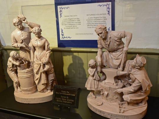 John Rogers sculptures osn are display Monday, April