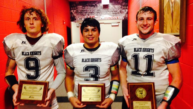 Robbinsville's Dustin Brown, Cruz Galaviz and Skyler Matheson, from left to right.
