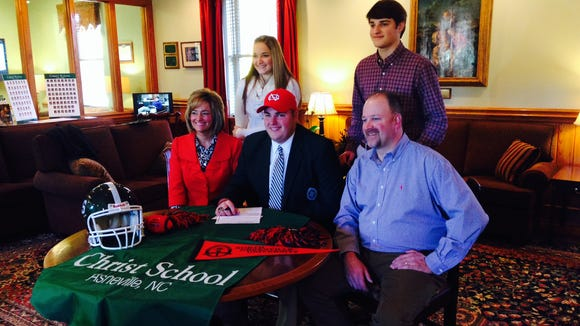 Christ School senior Austin Cooke has signed to play college football for North Greenville (S.C.).