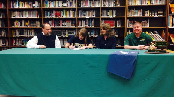Reynolds senior Makayla Ballenger has signed to play college soccer for Queens.