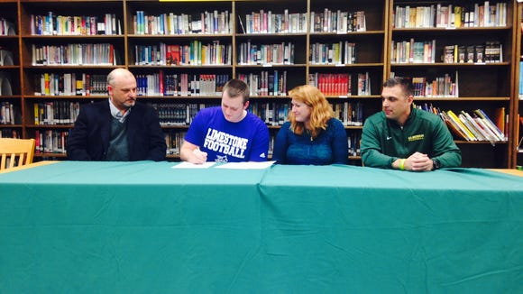 Reynolds senior Stephen Sparacino has signed to play college football for Limestone.